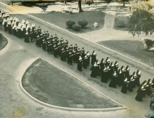 Sisters, novices and postulants in procession