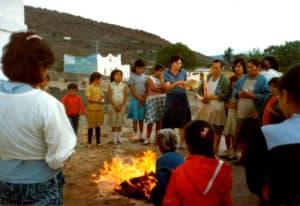 Sr. Luz María with a group